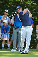 Bethesda, MD - July 2, 2017: David Lingmerth tee shot during final round of professional play at the Quicken Loans National Tournament at TPC Potomac  in Bethesda, MD, July 2, 2017.  (Photo by Elliott Brown/Media Images International)