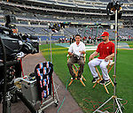 11 July 2008: Washington Nationals' infielder Kory Casto takes part in a television interview prior to a game against the Houston Astros at Nationals Park in Washington, DC. The Nationals shut out the Astros 10-0 in the first game of their 3-game series...Mandatory Photo Credit: Ed Wolfstein Photo