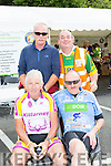 Billy Lyne, Tadhg Moynihan, Eugene O'Connor, Pascal Dowd relaxing at the finish of the Ring of Kerry cycle in Killarney on Saturday