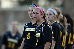 17 September 2015: Appalachian State's Jenni Loveles (3). The Duke University Blue Devils hosted the Appalachian State University Mountaineers at Koskinen Stadium in Durham, NC in a 2015 NCAA Division I Women's Soccer match. Duke won the game 6-0.