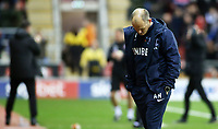 Preston North End manager Alex Neil tries to hide his disappointment as Rotherham United go 2-0 ahead<br /> <br /> Photographer David Shipman/CameraSport<br /> <br /> The EFL Sky Bet Championship - Rotherham United v Preston North End - Tuesday 1st January 2019 - New York Stadium - Rotherham<br /> <br /> World Copyright © 2019 CameraSport. All rights reserved. 43 Linden Ave. Countesthorpe. Leicester. England. LE8 5PG - Tel: +44 (0) 116 277 4147 - admin@camerasport.com - www.camerasport.com