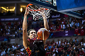 5th September 2017, Fenerbahce Arena, Istanbul, Turkey; FIBA Eurobasket Group D; Turkey versus Belgium; Point Guard Jonathan Tabu #9 of Belgium dunks on the basket during the match