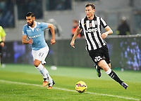 Stephan Lichtsteiner    in action during the Italian Serie A soccer match between   SS Lazio and FC Juventus   at Olimpico  stadium in Rome , November 22, 2014