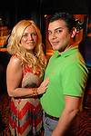 Amanda Mills and Edward Sanchez at the St. Patrick's Day party at the Hotel ZaZa Monday March 17,2008.(Dave Rossman/For the Chronicle)