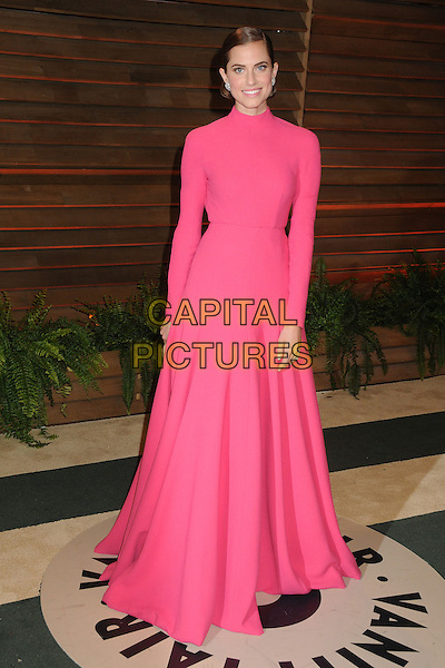 02 March 2014 - West Hollywood, California - Allison Williams. 2014 Vanity Fair Oscar Party following the 86th Academy Awards held at Sunset Plaza. <br /> CAP/ADM/BP<br /> &copy;Byron Purvis/AdMedia/Capital Pictures
