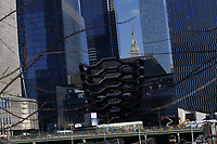 NEW YORK, NY - MARCH 12: Workers work in The Vessel at the Hudson Yards real estate development complex on March 12, 2019 in New York. The Hudson Yards is on of the biggest billion project on Manhattan's west side and is expected to open its doors on Friday. (Photo by Eduardo MunozAlvarez/VIEWpress)