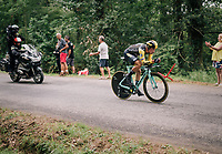 Primoz Roglic (SVK/LottoNL-Jumbo) carcks under pressure and tumbles from the Tour podium into 4th place<br /> <br /> Stage 20 (ITT): Saint-P&eacute;e-sur-Nivelle &gt;  Espelette (31km)<br /> <br /> 105th Tour de France 2018<br /> &copy;kramon