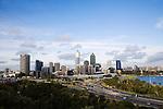 Perth skyline from Kings Park.  Perth, Western Australia, AUSTRALIA.