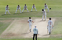 Timm Van Der Gugten of Glamorgan is bowled by Matt Henry during the Specsavers County Championship division two game between Kent and Glamorgan (day 3) at the St Lawrence Ground, Canterbury, on Sept 20, 2018