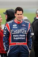 Oct. 3, 2009; Kansas City, KS, USA; NASCAR Nationwide Series driver Kevin Conway during qualifying for the Kansas Lottery 300 at Kansas Speedway. Mandatory Credit: Mark J. Rebilas-