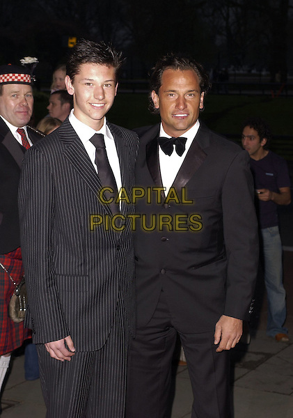 DEAN HOLDSWORTH & SON?.At the Professional Footballers' Association Awards (PFA), Grosvenor House, Park Lane, LOndon, England, .April 23rd 2006..Half length suit bow tie .Ref: CAN.www.capitalpictures.com.sales@capitalpictures.com.©Can Nguyen/Capital Pictures