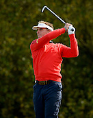 16.10.2014. The London Golf Club, Ash, England. The Volvo World Match Play Golf Championship.  Day 2 group stage matches.  Joost Luiten [NED] tee shot fourth hole.