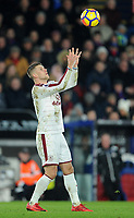 Burnley's Johann Gudmundsson<br /> <br /> Photographer Ashley Crowden/CameraSport<br /> <br /> The Premier League - Crystal Palace v Burnley - Saturday 13th January 2018 - Selhurst Park - London<br /> <br /> World Copyright &copy; 2018 CameraSport. All rights reserved. 43 Linden Ave. Countesthorpe. Leicester. England. LE8 5PG - Tel: +44 (0) 116 277 4147 - admin@camerasport.com - www.camerasport.com