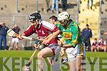 Causeway's Ronan Kenny and Lixnaw's Trevor McKenna..   Copyright Kerry's Eye 2008
