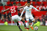 Martin Olsson of Swansea City during the Premier League match between Manchester United and Swansea City at the Old Trafford, Manchester, England, UK. Saturday 31 March 2018