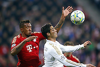 FUSSBALL: Champions League, Halbfinale, Hinspiel, FC Bayern Muenchen - Real Madrid, Muenchen, 17.04.2012..Jerome Boateng (Bayern, l.) - Cristiano Ronaldo (Real)..© pixathlon