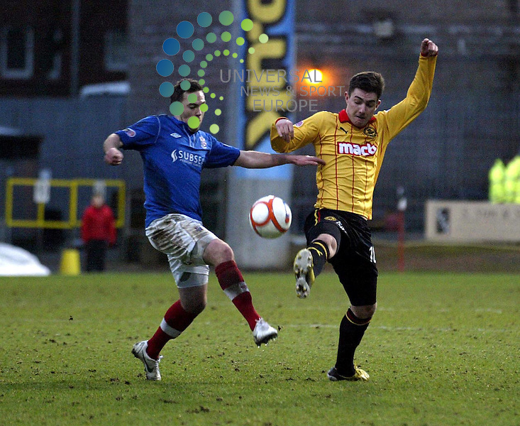 Partick Thistle v Cowdenbeath.Irn Bru 1st Division.Saturday 26th Jan 2013.Firhill Stadium -- Score 2-1.Ross Forbes.Photo by Tommy Taylor Universal News and Sport