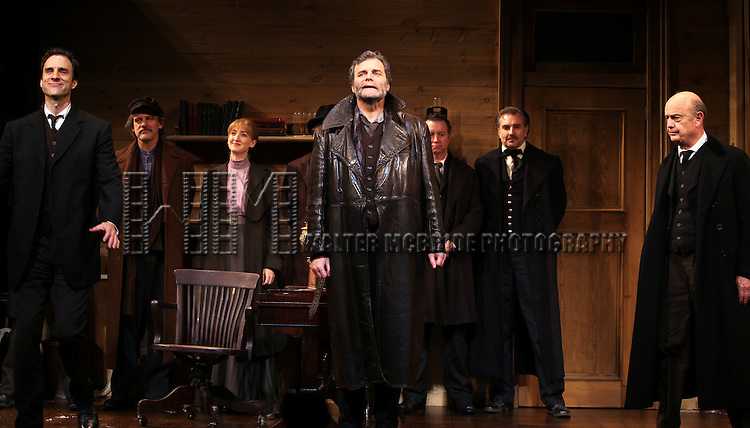 James Waterston, John Procaccino and Gerry Bamman during the Broadway Opening Night Performance Curtain Call for  'An Enemy of the People' at the Samuel J. Friedman Theatre in New York. Sept. 27, 2012