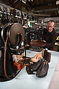 01/05/16<br /> <br /> Phil Ashton uses a ancient sewing machine to stitch a boot together.<br /> <br /> Fuelled by a growing trend for vintage cycling, England&rsquo;s last remaining heavy duty boot-maker, tucked away in the heart of the Derbyshire Peak District, is pedalling a new style of footwear.<br /> <br /> Full story here: http://www.fstoppress.com/articles/vintage-cycle-shoes/<br /> <br />  .For hipster retro-cycling enthusiasts after the authentic vintage look, it&rsquo;s the only English manufacturer of leather shoes designed to work with old-fashioned bike pedal clips.<br /> <br /> For well over a century the family-run firm William Lennon and Co has been hand-making safety boots for the surrounding quarry and lead mining industries.<br /> <br /> And now it is applying the same high level of traditional skill and quality to old-style cycle shoes.<br /> <br /> Located in the small village of Stoney Middleton, the company produces more than 500 pairs of work boots a week and started to make the toe-clip cycle shoes around seven years ago, when the only other manufacturer in Leeds shut down.<br /> <br /> <br /> All Rights Reserved: F Stop Press Ltd. +44(0)1335 418365   www.fstoppress.com.