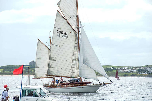 "Noted antiquarian bookseller Ed Maggs brings his ""modern classic"" gaff ketch Betty Alan to Mullaghmore Regatta 2019"