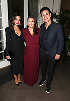 LOS ANGELES, CA - NOVEMBER 8: Courtney Laine Mazza, Eva Longoria, Mario Lopez, at the Eva Longoria Foundation Dinner Gala honoring Zoe Saldana and Gina Rodriguez at The Four Seasons Beverly Hills in Los Angeles, California on November 8, 2018. Credit: Faye Sadou/MediaPunch