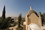 "Israel, Jerusalem, Church of Dominus Flevit on the Mount of Olives. Its name means ""The Lord Wept"", the chapel was designed in the shape of a teardrop and built in 1955 over a 7th century chapel<br />"