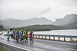 The breakaway group in action during Stage 4 of the 2018 Artic Race of Norway, running 145.5km from Kvalsund to Alta, Norway. 18th August 2018. <br /> <br /> Picture: ASO/Gautier Demouveaux | Cyclefile<br /> All photos usage must carry mandatory copyright credit (&copy; Cyclefile | ASO/Gautier Demouveaux)