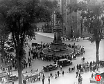 Memorial Day celebration near the Soldier's Monument on West Main Street in Waterbury circa 1929.