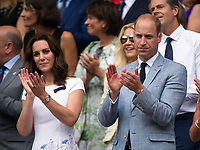 HRH The Duke &amp; HRH The Duchess of Cambridge applaud Roger Federer on his victory<br /> <br /> Photographer Ashley Western/CameraSport<br /> <br /> Wimbledon Lawn Tennis Championships - Day 13 - Sunday 16th July 2017 -  All England Lawn Tennis and Croquet Club - Wimbledon - London - England<br /> <br /> World Copyright &not;&copy; 2017 CameraSport. All rights reserved. 43 Linden Ave. Countesthorpe. Leicester. England. LE8 5PG - Tel: +44 (0) 116 277 4147 - admin@camerasport.com - www.camerasport.com