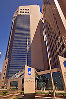 Abu Dhabi National Oil company?s new headquarters in Abu Dhabi city center/centre.   United Arab Emirates.