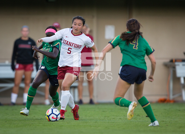 STANFORD, CA - September 7, 2018: Michelle Xiao at Laird Q. Cagan. The Stanford Cardinal defeated Notre Dame 3-1.