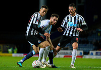 Blackburn Rovers' Ben Brereton vies for possession with Newcastle United's Javi Manquillo and Ciaran Clark<br /> <br /> Photographer Alex Dodd/CameraSport<br /> <br /> Emirates FA Cup Third Round Replay - Blackburn Rovers v Newcastle United - Tuesday 15th January 2019 - Ewood Park - Blackburn<br />  <br /> World Copyright © 2019 CameraSport. All rights reserved. 43 Linden Ave. Countesthorpe. Leicester. England. LE8 5PG - Tel: +44 (0) 116 277 4147 - admin@camerasport.com - www.camerasport.com