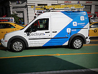 A Spectrum neé Time Warner Cable van in New York  on Saturday, October 29, 2016. Following the acquisition of Time Warner Cable by Charter Communications the Time Warner Cable brand is being rebranded as Spectrum. (© Richard B. Levine)