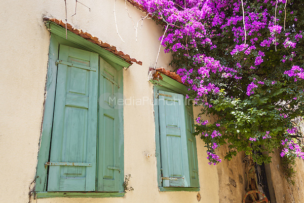 Green window shutters on a house in the town of Chios, Chios, Greece<br /> CAP/MEL<br /> &copy;MEL/Capital Pictures /MediaPunch ***NORTH AND SOUTH AMERICA ONLY***