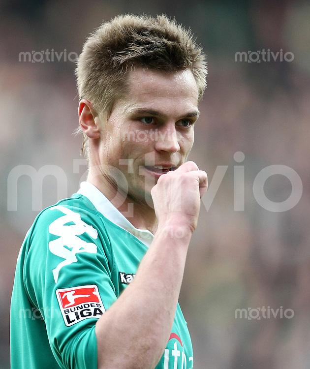 FUSSBALL     1. BUNDESLIGA     SAISON 2007/2008   26. SPIELTAG SV Werder Bremen - MSV Duisburg                             29.03.2008 Markus ROSENBERG (SV Werder Bremen)