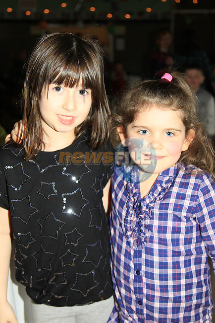 Sarah Byrne and Hanna Black at the St patricks Day party in Drumcar..Picture Fran Caffrey www.newsfile.ie..