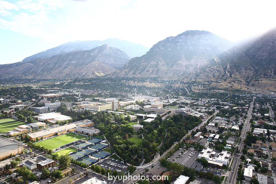 1309-22 0088<br /> <br /> 1309-22 BYU Campus Aerials<br /> <br /> West looking East, Provo, Sunrise, Maeser Hill, Outdoor Tennis Courts TCF, Smith Fieldhouse South Field SFLD, <br /> <br /> September 6, 2013<br /> <br /> Photo by Jaren Wilkey/BYU<br /> <br /> &copy; BYU PHOTO 2013<br /> All Rights Reserved<br /> photo@byu.edu  (801)422-7322