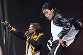 London, UK. 21 June 2015. Stars from the hit Michael Jackson-musical Thriller Live perform at West End Live 2015 in Trafalgar Square.