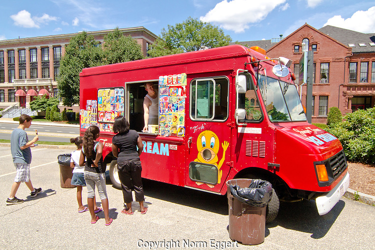 Juniper Farms food truck in Worcester, Massachusetts serving people outside