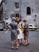 Women standing on street