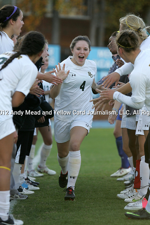 16 November 2012: Baylor's Carlie Davis. The Baylor University Bears played the Georgetown University Hoyas at Fetzer Field in Chapel Hill, North Carolina in a 2012 NCAA Division I Women's Soccer Tournament Second Round game. Baylor won the game 2-1 in overtime.