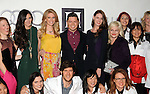 Houston designer David Peck,center, poses with models and his employees on the red carpet at Fashion Houston at the Wortham Theater Thursday Nov.14,2013.  (Dave Rossman photo)