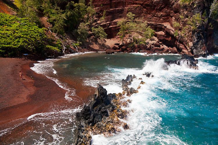 Red Sand Beach, Hana, Maui, Hawaii