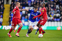 1st February 2020; St Andrews, Birmingham, Midlands, England; English Championship Football, Birmingham City versus Nottingham Forest; Lukas Jutkiewicz of Birmingham City competes for the ball