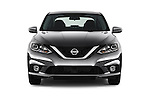 Car photography straight front view of a 2017 Nissan Sentra SR 4 Door Sedan Front View