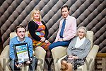 At the Lee Strand Kerry Garda Youth Achievement Awards 2016 in Ballyroe Heights on Friday were, from left. Paddy Flynn, Cordal, Merit Award Winner, Moira Flynn, Florence Flynn and Kathleen Curtin