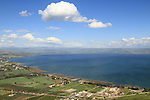 Israel, Lower Galilee, a view of the Sea of Galilee from Mount Arbel