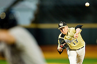 John McLeod #17 of the Wake Forest Demon Deacons delivers a pitch to the plate against the Georgetown Hoyas at Wake Forest Baseball Park on February 26, 2012 in Winston-Salem, North Carolina.  (Brian Westerholt / Four Seam Images)