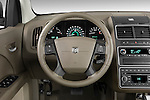 Steering wheel view of a 2009 Dodge journey rt