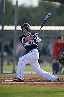 UW-Stout Blue Devils Nick Nalbach (2) hits a home run during the first game of a doubleheader against the Edgewood Eagles on March 16, 2015 at Lee County Player Development Complex in Fort Myers, Florida.  UW-Stout defeated Edgewood 6-1.  (Mike Janes/Four Seam Images)